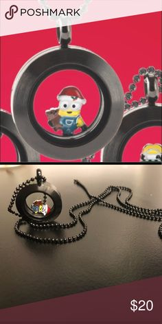 Minions necklace,Limited edition,Christmas Origami owl Christmas Origami Owl Jewelry Necklaces