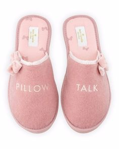 KATE SPADE NEW YORK BARRONE PILLOW TALK SPEECH SLIPPERS ANTIQUE ROSE $60 - PICK UP OR SHIPS FREE WORLDWIDE! BET PRICE GUARANTEE - MAJOR CREDIT CARDS ACCEPTED - SHOP OUR SSL SECURE WEBSITE: SophiaSpano.com