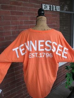Hey, I found this really awesome Etsy listing at https://www.etsy.com/listing/238426997/monogrammed-tennessee-spirit-jersey-ut