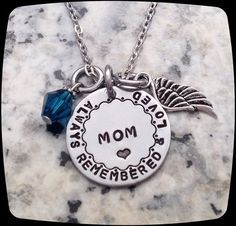 Mom Angel, Always Remembered, Daddy Death, Remembrance Jewelry, Memorial Necklace, Loss Of Father, Sympathy Gift