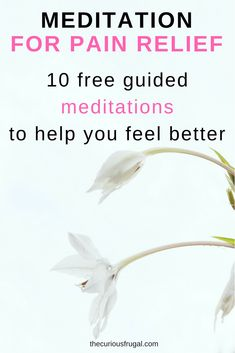 If you're in pain, all you want to do is feel better. From a simple headache to the pain of childbirth, pain in life is inescapable. Use a guided meditation for pain to help yourself feel better. Free Guided Meditation, Meditation For Beginners, Meditation Techniques, Daily Meditation, Meditation Music, Anxiety Relief, Pain Relief, Too Much Stress, Meditation Benefits