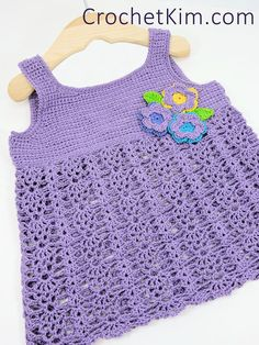 CrochetKim Free Crochet Pattern | Bouquet Baby Top @crochetkim 12 months with 18 months in parenthesis