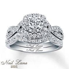 Neil Lane Bridal Set 7/8 ct tw Diamonds 14K White Gold
