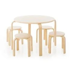 Kid Table, Table And Chair Sets, Furniture Deals, Table Furniture, Online Furniture, Stackable Stools, Interactive Table, Toddler Furniture, Bent Wood