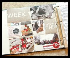 LOVING @stephanievente 's week 1 of PL-- her 6x12 journaling gives me inspiration!