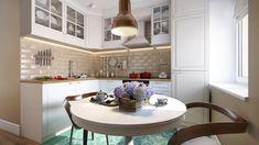 Látványos térelválasztás egy 37m2-es kis lakásban a nappali és háló zóna között