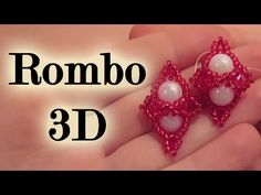 "Tutorial ""Rombo 3D"". ORECCHINI di perline - YouTube"