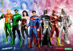New 52 ARTFX+ Justice League from Kotobukiya