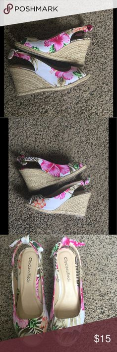 City classified wedges. City classified floral wedges. In good used condition. Perfect for summer, can be worn, with many outfits, the sky is the limit! City classified. Shoes Wedges