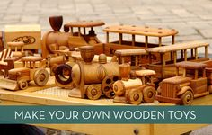 Make wooden toys with these FREE toy plans!!