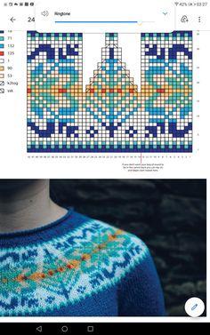 Fair Isle Knitting Patterns, Knitting Machine Patterns, Knitting Charts, Knitting Stitches, Knit Patterns, Motif Fair Isle, Fair Isle Pattern, Scandinavian Pattern, Knit Art