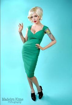 Holiday Edition - The Erin Dress in Pine Green