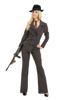 Gangster Moll Adult Costume  #couple costumes #halloween couple costumes