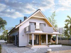 DOM.PL™ - Projekt domu MT Amarylis 3 CE - DOM MS3-65 - gotowy koszt budowy House Front Design, Design Case, Home Fashion, Architecture Design, Kitchen Design, House Plans, Cabin, Mansions, House Styles