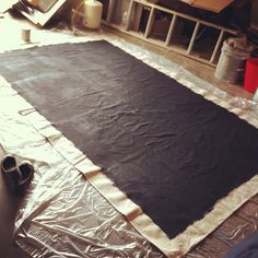 Paint a chalkboard sign on a drop cloth and use it for holiday/ party signs! Great photos on her site for ideas. Simply Radiant: November 2012