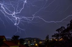 These stunning pictures show hundreds of lightning bolts in full force illuminating the night sky in South Africa. Alexius van der Westhuizen, a 46-year-old real-estate agent, captured the dramatic th...