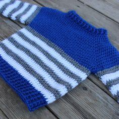 The Striped Fisher Sweater – coastal mist creations Crochet Boys Sweater Pattern Free, Crochet Baby Sweaters, Baby Boy Knitting Patterns, Baby Sweater Patterns, Baby Clothes Patterns, Crochet Baby Clothes, Crochet For Boys, Crochet Top, Crochet Baby Costumes