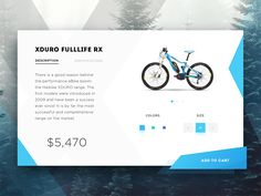 Bike e-commerce product page