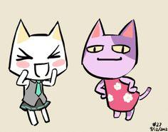 animal crossing sprites   animal crossing vocaloid sony cat I love hatsune miku so it make it cuter