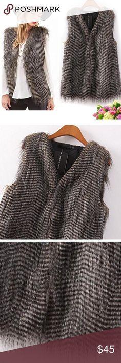 NWT Faux Fur Vest Beautiful soft vest. NWT RETAIL *PRICE FIRM* Jackets & Coats Vests