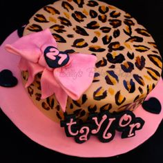 I Want The Leopard Print On My 21st Birthday Cake