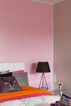 Upea efektiseinä on maalattu Siroplast 7 -maalilla #asuntomessut #tikkurila #siro #pinkki #vaaleanpunainen #trendit #efektiseinä #maalausidea #sampo #sisämaalaus