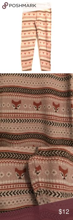 Fox Print Thick Leggings Super cute and cozy! Some light wear as pictured. Mossimo Supply Co Pants Leggings