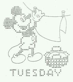 Tuesday Embroidery Mickey