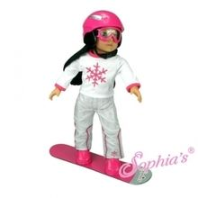 "Snowboard set that is the perfect size for 18"" american girl dolls. Use special discount code PIN10"