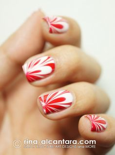 Red and White marble