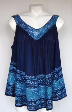 40f005f8603 Batik Style Tie Dye FESTIVAL Umbrella Top Free Size