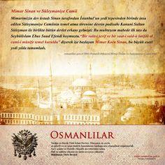 """Günün Tarihi: Süleymaniye Câmii'nin ibâdete açılışı (1557)  Mimarimizin dev üstadı Sinan tarafından İstanbul'un yedi tepesinden birinde inşa edilen Süleymaniye Camiinin temel atma törenine devrin padişahı Kanuni Sultan Süleyman ile birlikte bütün devlet erkanı gelmişti. Bu muhteşem mabede ilk taşı da Şeyhülislam Ebus Suud Efendi koymuştu.  """"Bir vakt-i şerif ve bir saat-i saîd-ü latifde ol camî-i münîfe temel uruldu"""" diyerek işe başlayan Mimar Koca Sinan, bu büyük eseri yedi yılda tamamladı."""