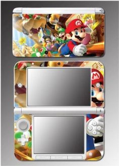 Super Mario Bros Brothers Party Luigi Video Game Vinyl Decal Cover Skin Protector #8 for Nintendo 3DS