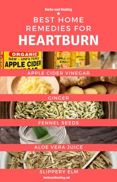 Below are the best home remedies proven to treat Heartburn or alleviate its Symptoms. How To Relieve Heartburn, Home Remedies For Heartburn, Heartburn Relief, Throat Pain, Sore Throat, Apple Cider Vinegar Uses, Acid Reflux Relief, Slippery Elm, Fennel Seeds