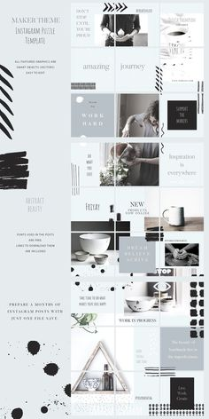 trendy ideas for design layout grid Instagram Design, Muro Instagram, Layout Do Instagram, Interior Design Instagram, Instagram Grid, Instagram Posts, Instagram Square, Instagram Banner, Instagram Creator