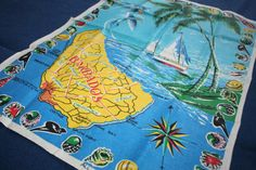 Lamont Souvenir Towel Linen Ireland Barbados by AstridsPastTimes