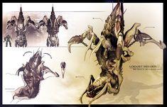 GOW blech by James Hawkins on ArtStation. James Hawkins, Pug, Gears Of War 2, That's So Raven, For The Horde, Shadow Art, Dark Fantasy Art, Supernatural, Concept Art