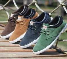 Men's Lace-Up Canvas Boat Shoes, $20 | This Wholesale Fashion Site Could Be The Answer To Your Wardrobe Needs