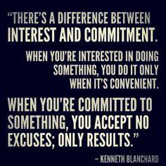 Commitment.