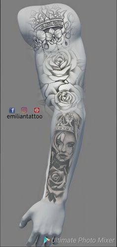 Dope Tattoos, Badass Tattoos, Forearm Tattoos, Black Tattoos, Body Art Tattoos, Hand Tattoos, Cool Shoulder Tattoos, Best Sleeve Tattoos, Tattoo Sleeve Designs