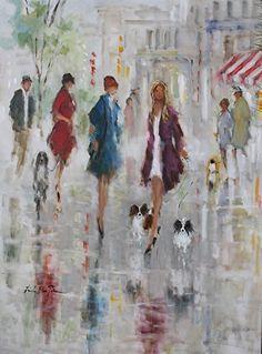 Brook and Friends by Linda Ellen Price Oil ~ 40 x 30