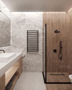 decor ideas-luxe-interior design-home-decor-living If we had to narrow down our obsession to just one thing it would be those leather throw pillows calling our name. or via designed by from Odessa Ukraine Visuals by Best Bathroom Designs, Bathroom Trends, Bathroom Design Small, Bathroom Interior Design, Modern Bathroom, Bathroom Ideas, Bathroom Organization, Bathroom Goals, Modern Shower