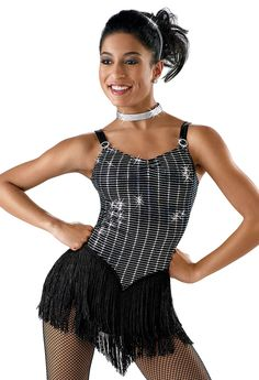 Shiny Leotard with Fringe Skirt; Weissman Costumes The Joint is Jumping #5653