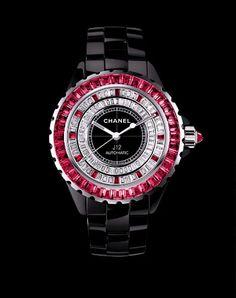 Chanel | Chanel J12 erscheint als Limited Edition - richtigteuer.de Love the rubies..argh!