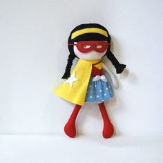 My Teeny Tiny Doll Wondergirl by CookYouSomeNoodles on Etsy - Saskia would kill for this!!!!!