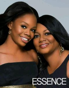 Gabby and her mother.