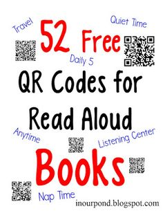 FREE QR Codes for Read-to-Me Books - Kids Audio Books - ideas of Kids Audio Books - We listened to a lot of audiobooks on our vacations which has really gotten the kids (especially Dragonfly) interested in listening to bo Kindergarten Listening Center, Listening Station, Teaching Reading, Listening Centers, Guided Reading, Learning, Free Qr Code, Audio Books For Kids, Listen To Reading