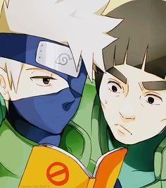 The ultimate rivalry! Kakashi and Gai!