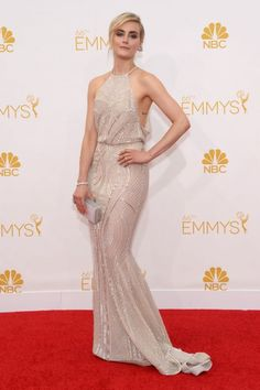 Taylor Schilling in Zuhair Murad and Forevermark jewelry at the Emmys