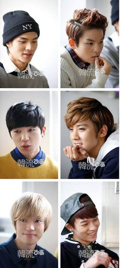 "C.A.P, Chunji, L.Joe, Niel, Ricky and Changjo ♡ #TEENTOP // ""HANRYU PIA"" Magazine"